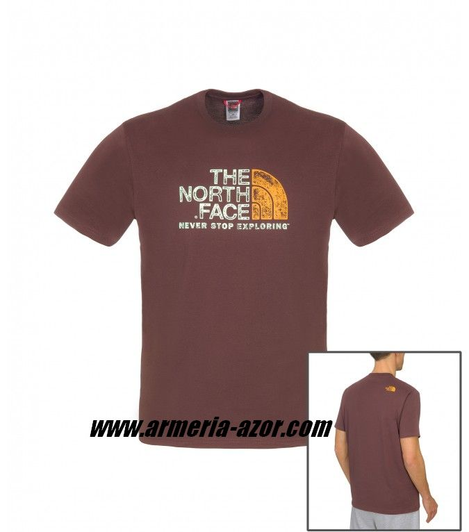 Camiseta The North Face M Rustte Fudge Brown