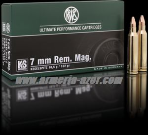 RWS KS 7mm RM 162 grains - 10.5 gr.(Caja 20)