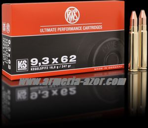 RWS KS 9,3x62 WM 247 grains - 10.7 gr.(Caja 20)