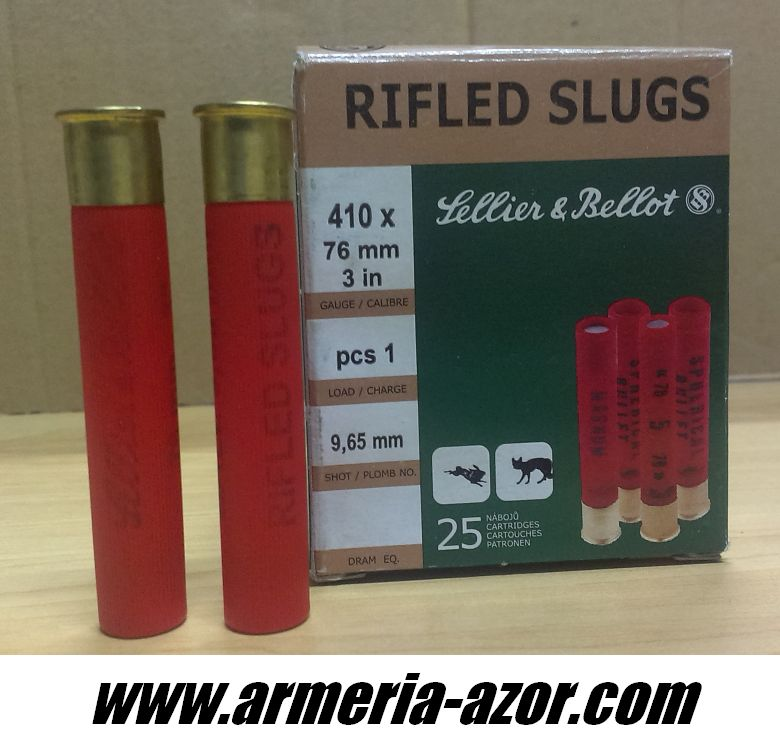 Cartridges Sellier & Bellot Cal. 410 x 76 mm 3 in (Box 25 units)