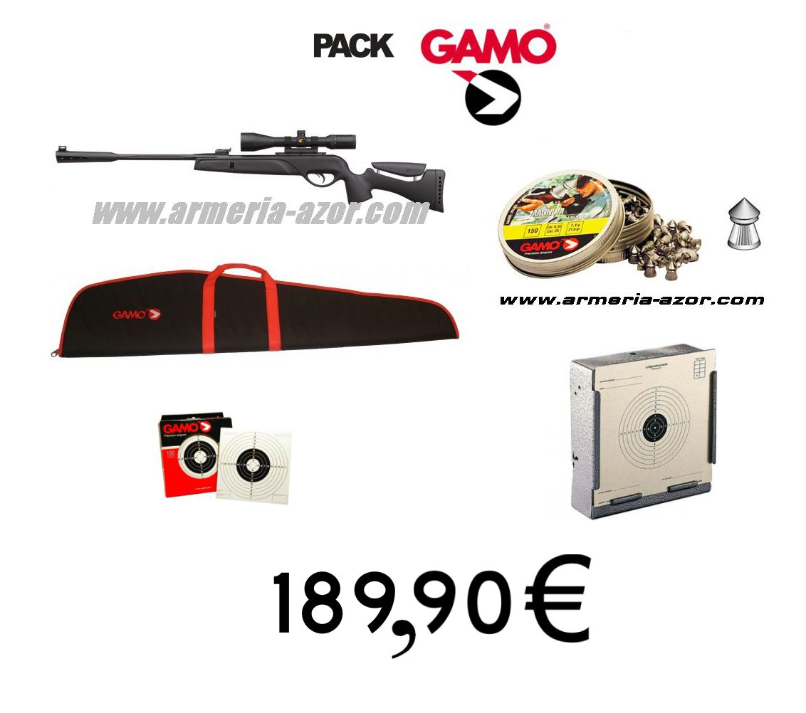 Gamo Pack Rifle Socom Tactical+ Case Gamo+ 250 Gamo munition 4'5