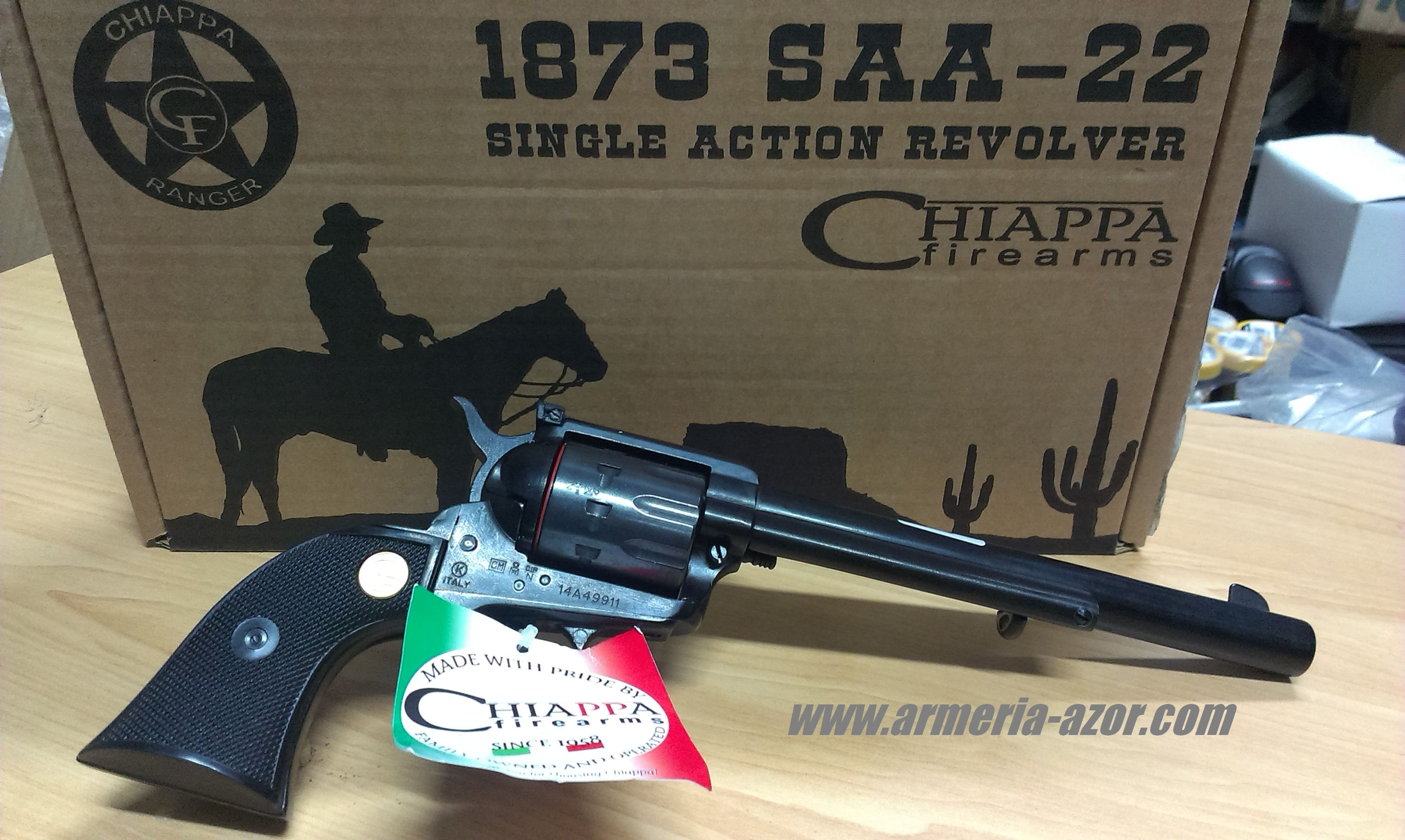 "Revolver Chiappa 1873 SAA-22 Cal.22 7,5"" DISPONIBLE"